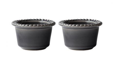PotteryJo Daria Steintøy Bolle Grå 12cm 2-pk