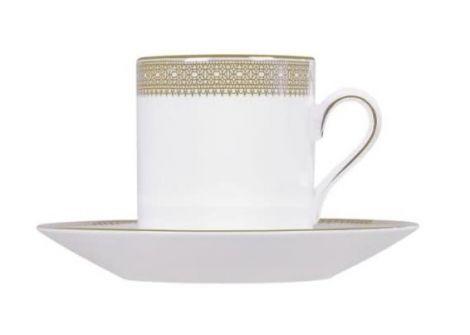 Wedgwood Vera Wang Lace Gold Espressokopp och fat