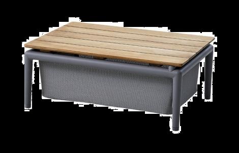 Cane-line Conic boxbord teak / ljusgrå