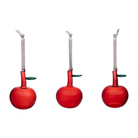 Iittala Glassepler Røde 3 stk