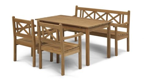 Skagerak Skagen Set, teak (2 stolar, 1 bänk, 1 bord)