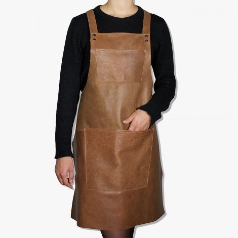Dutchdeluxes Suspender Forkle Skinn Vintage Cognac