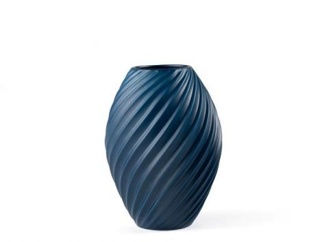 Morsø River Vase 21 cm Matt blå