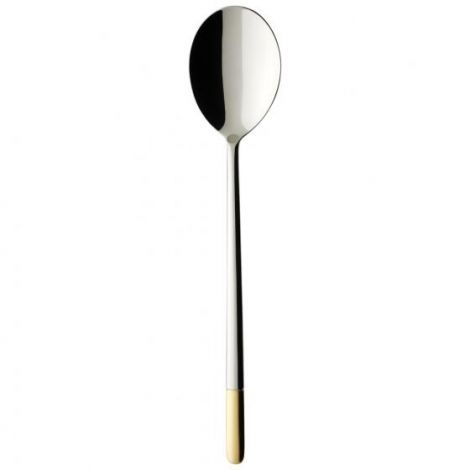 Villeroy & Boch Ella partially gold plated Salad serving spoon 233mm