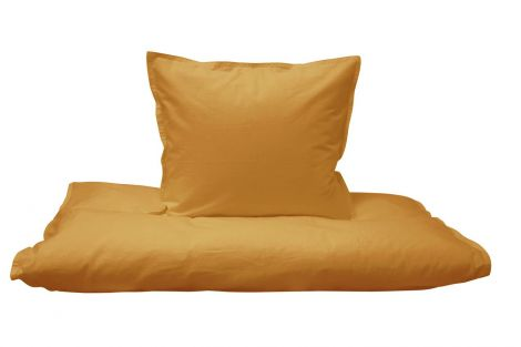 Cozy sängkläder för senap 100% ekologisk bomull Flerval