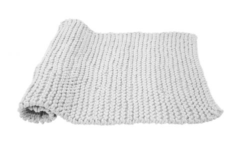 Cozy handstickad mattgrå