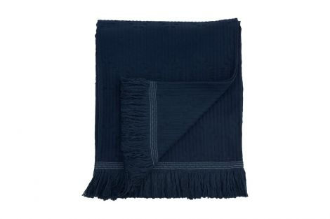 Staalnacke Tulum sengeteppe 140x260 Deep blue